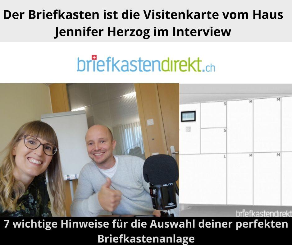 Darauf kommt es an, bei der Wahl vom richtigen Briefkasten – Jennifer Herzog von briefkastendirekt.ch im Interview