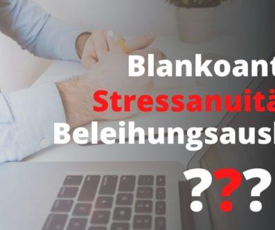 Blankoanteil – Stressanuität – Beleihungsauslauf – wichtig für Investoren