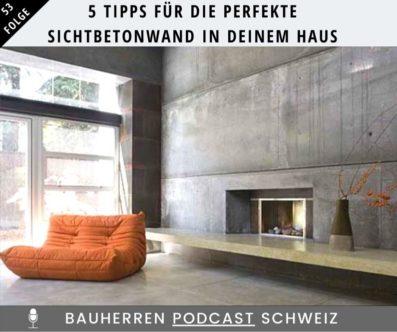 5 Tipps für die perfekte Sichtbetonwand in deinem Haus
