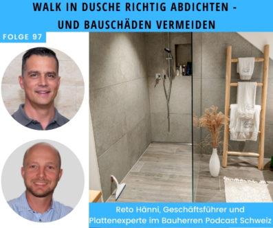 Walk-in-Dusche richtig abdichten und Bauschäden vermeiden